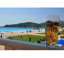 Beer by the beach - Olu Deniz, Turkey Photographic Print