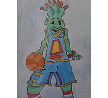 Squirt with basketball Photographic Print
