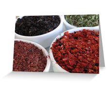 Spices - Istanbul, Turkey Greeting Card