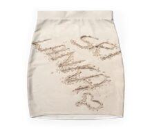 Mirissa Sri Lanka Sri Lanka written into the sand with a love heart Mini Skirt