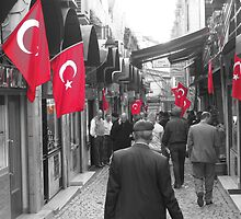 Patriotic bunch, the Turks - Istanbul, Turkey by craigs79