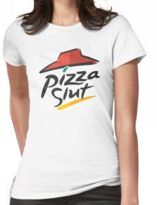 Pizza Slut Hut Fast Food Parody Womens Fitted T-Shirt