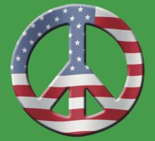 Peace sign and US flag Baby Tee
