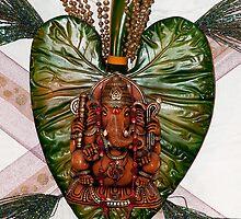 Ganesh on leaf by saiphotolad