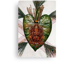 Ganesh on leaf Canvas Print