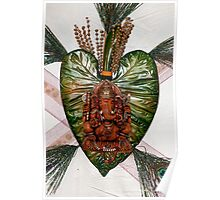 Ganesh on leaf Poster