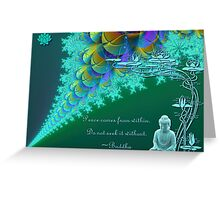 Buddha Peace Greeting Card