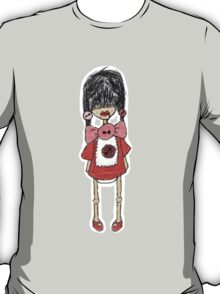 Button Red T-Shirt