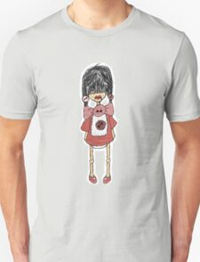 Button Red T-Shirt