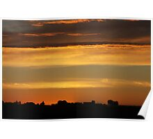 Sunset over Washington Poster