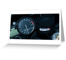 Fast Bikes Greeting Card