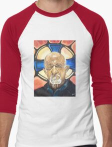 Mike Ehrmantraut Stained Glass Background Breaking Bad Fanart Men's Baseball ¾ T-Shirt
