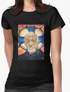 Mike Ehrmantraut Stained Glass Background Breaking Bad Fanart Womens Fitted T-Shirt