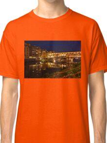 Impressions Of Florence - Ponte Vecchio Evening Classic T-Shirt