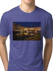 Impressions Of Florence - Ponte Vecchio Evening Tri-blend T-Shirt