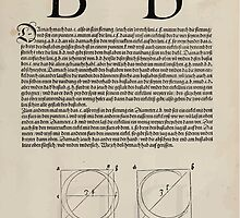Measurement With Compass Line Leveling Albrecht Dürer or Durer 1525 0117 Alphabet Letters Calligraphy Font by wetdryvac