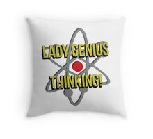 Lady Genius Thinking Throw Pillow