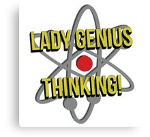 Lady Genius Thinking Canvas Print