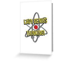 Lady Genius Thinking Greeting Card