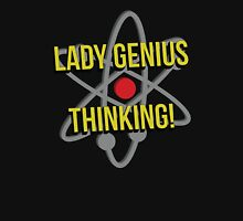 Lady Genius Thinking Womens Fitted T-Shirt