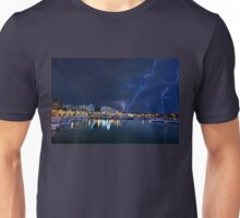 Storm at the old port of Heraklion Unisex T-Shirt