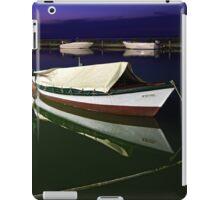Fishing boat at Lefkada island iPad Case/Skin
