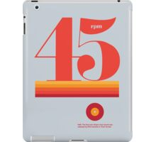 45rpm iPad Case/Skin