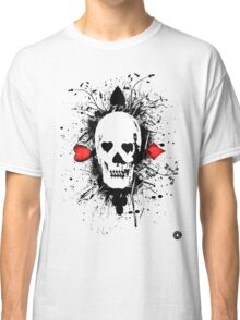 Poker skull with splater all over Classic T-Shirt