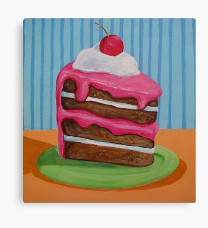 Cake slice 1 Canvas Print