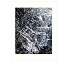 Ice Patterns Art Print