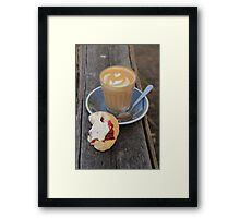 latte & scones Framed Print