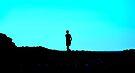 Blue Speckled Silhouette by Helen Vercoe