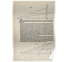 Measurement With Compass Line Leveling Albrecht Dürer or Durer 1525 0176 Perspective Poster