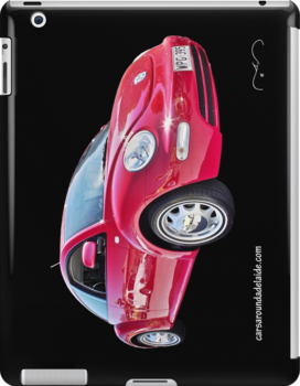 Red Volkswagen New Beetle  by Ferenghi