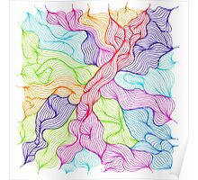 Rainbow Squiggle Poster