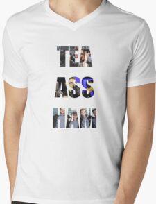 Tea Ass Ham Mens V-Neck T-Shirt