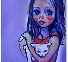 Girl with cat by Ciprian  Chirita