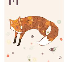 alphabet poster - fox by whatmilk