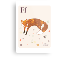 alphabet poster - fox Metal Print