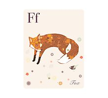alphabet poster - fox Photographic Print