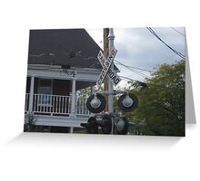 Train signal  Greeting Card