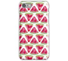 Seamless pattern with watercolor watermelon iPhone Case/Skin