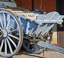 An old wooden wagon by Arie Koene
