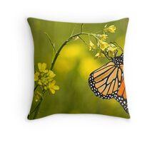 summer butterfly Throw Pillow