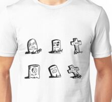 Modern Grave Stones Graffiti Unisex T-Shirt