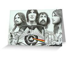 Pink Floyd Collage Drawing Greeting Card