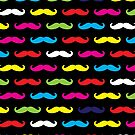Colourful Moustache Pattern by 4ogo Design
