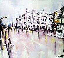 City street scene landscape by ZlatkoMusicArt