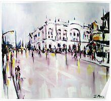 City street scene landscape Poster