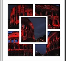 ROME - Colosseum in red - October 10th 2010 - A collage by Daniela Cifarelli